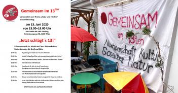 """Jetzt schlägt´s 13! - Aktionstag zum Thema """"Natur und Frieden"""""""